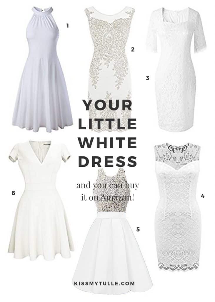 Find Your LWD (Little White Dress) On Amazon
