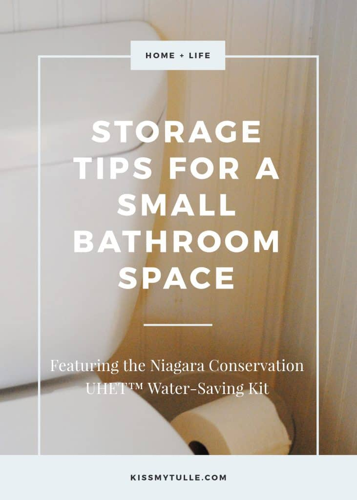 Storage Tips for a Small Bathroom Space + a Giveaway #AD