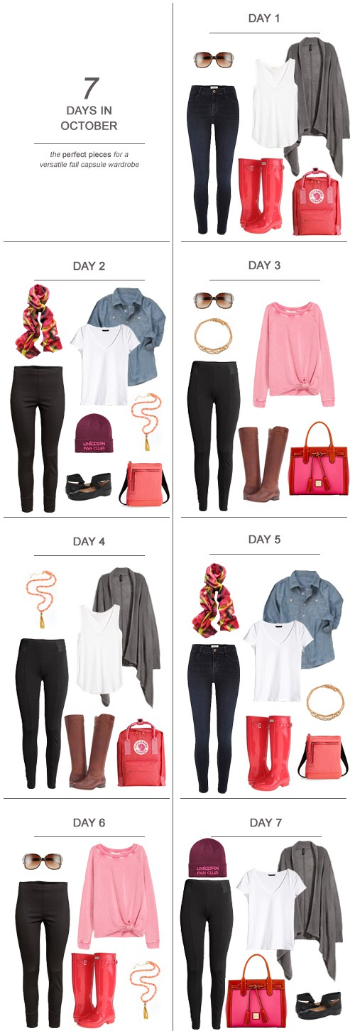 7 Days in October : The Perfect Pieces for a Versatile Fall Capsule Wardrobe #ootd #capsulewardrobe #fashion #mom #sahm #wahm