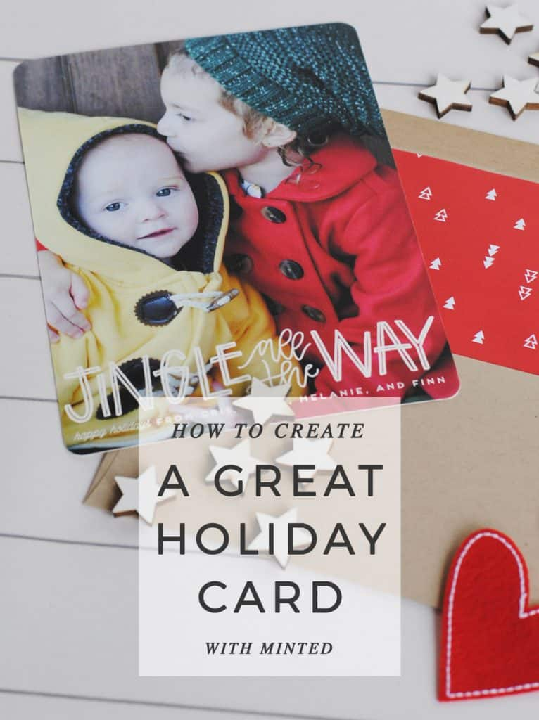 San Antonio lifestyle blogger, shows you how to create a great holiday card with Minted. Find out more!