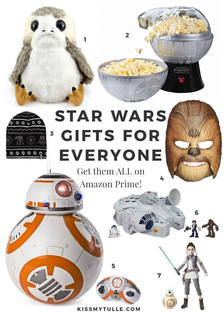 "Alaskan lifestyle blogger, Kiss My Tulle, shares a ""Star Wars Gift Guide for Everyone""! And you can buy everything RIGHT NOW on Amazon Prime. #MaytheFourthBeWithYou #maytheforcebewithyou #StarWars"