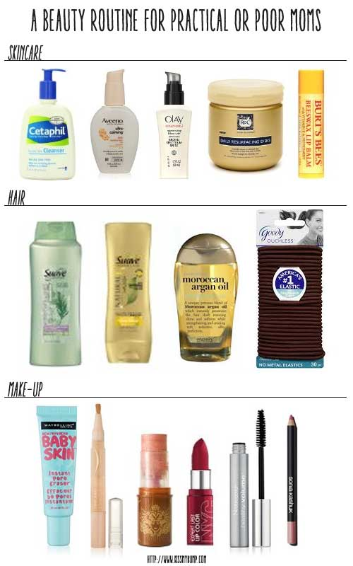 A Beauty Routine for Practical or Poor Moms #mom #newmom #sahm #wahm #beauty