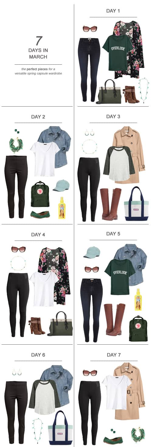 7 Days in March : The Perfect Pieces for a Versatile Spring Capsule Wardrobe #ootd #March #capsulewardrobe #sahm #ad Get a jump on sunnier days and get an early start on a lighter, brighter look with Sun In. It's easy to create golden highlights at home with just your hairdryer and a bottle of alcohol free Sun In - it conditions while bringing out your natural highlights. And remember, Sun In isn't only for blondes - I use it on my on medium-brown hair. #PowerPrimper #SunInFunIn