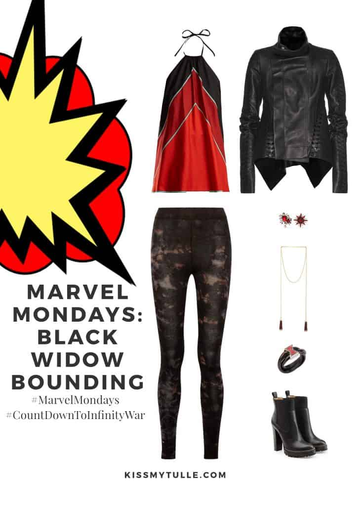 Texas Mom Blogger, Kiss My Tulle, is sharing a Marvel fan favorite - the mysterious and bad ass Agent Romanoff - the Black Widow! #MarvelMondays: #BlackWidowBounding #MarvelBounding #MarvelMovies #Avengers #BlackWidow #CountDownToInfinityWar