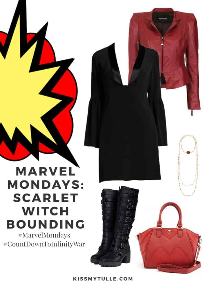 Texas Mom Blogger, Kiss My Tulle, is sharing one of the most powerful in the group - the Scarlet Witch! #MarvelMondays: #ScarletWitchBounding #MarvelBounding #MarvelMovies #ScarletWitch #Avengers #CountDownToInfinityWar