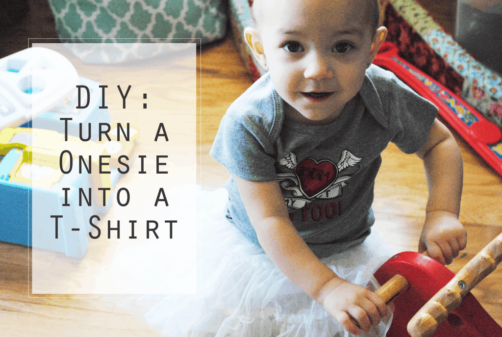 From This to This - Turn a Onesie into a T-Shirt #baby #DIY #handmade